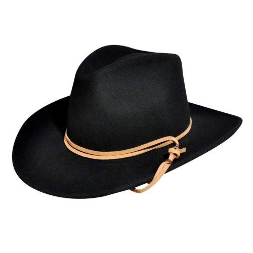 Bailey Western Men Wind River By Bailey Joe Eder Litefelt Outback Hat Black L