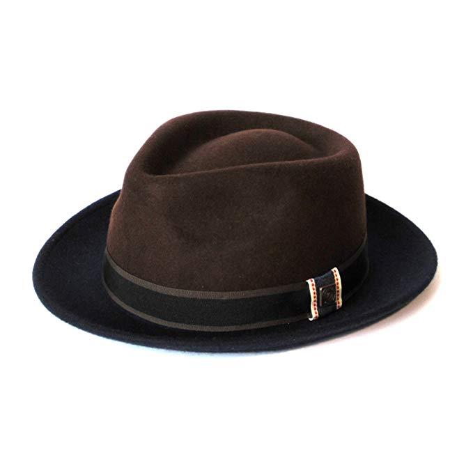 Dasmarca Mens Wool Wide Brim Fedora Hat - Edwin