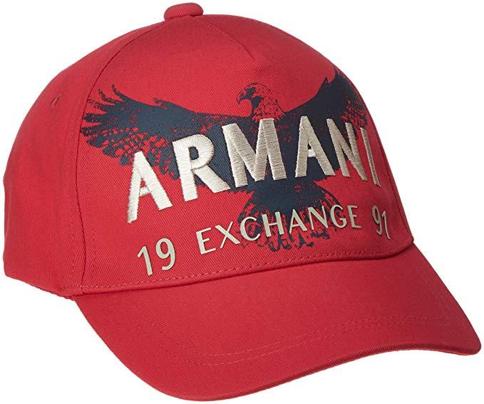Armani Exchange EAGLE A X 1991 BASEBALL CAP HAT RED